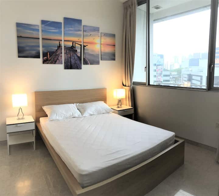 Stunning 1BR Suite (MRT right at doorstep)