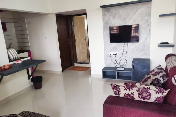 Furnished One Bedroom Apartment-Wifi-Bangalore