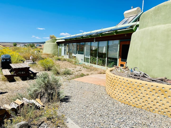 Taos Earthship Unique Eco Home- Gorgeous-Private-