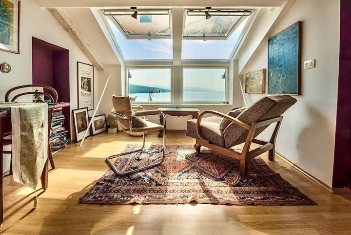 Adriatika Seaside Loft, panoramic view on the sea