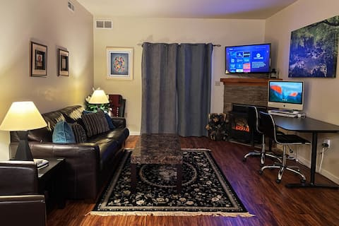 Ski On/Off Hunter Mtn Condo w/Fireplace+Work Space
