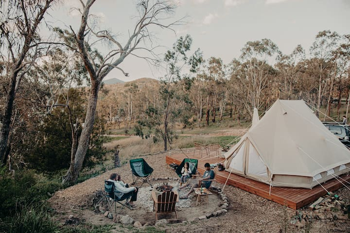 Glamping with a view