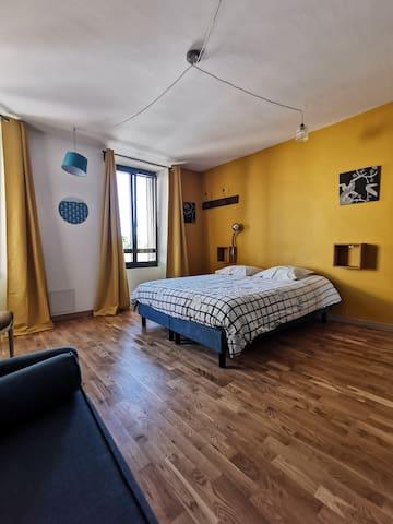 La chambre jaune, la familial