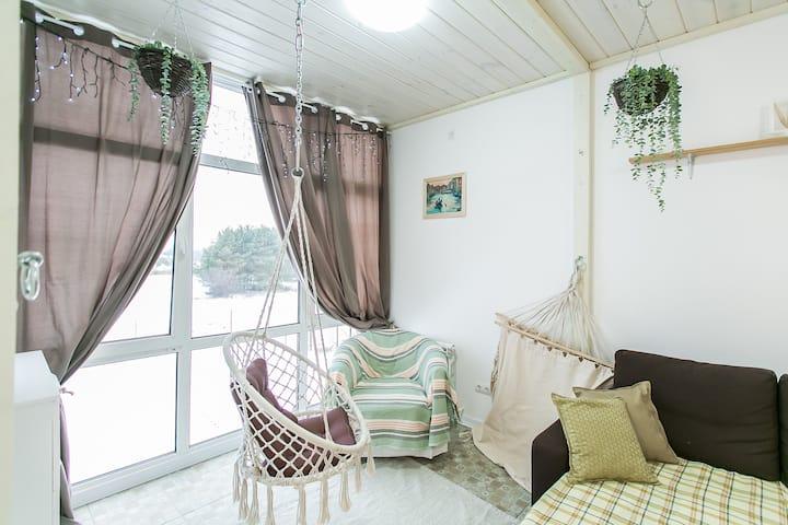 Апартаменты №8 в Солотче на пляже (2-6 человек)
