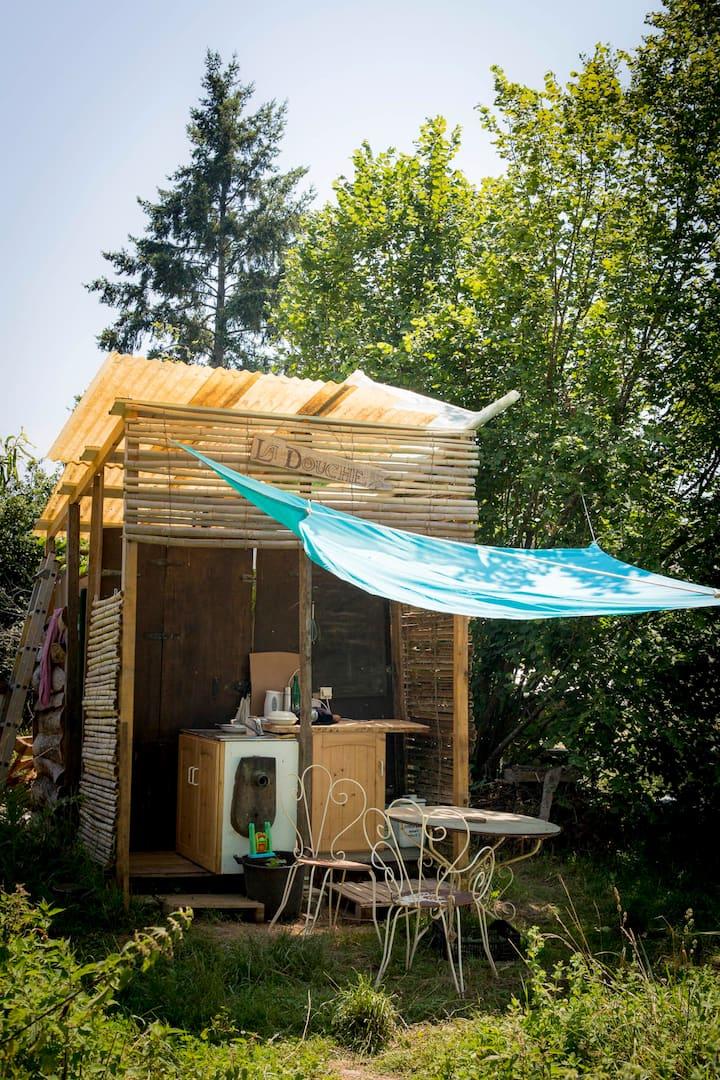 Tente en permaculture