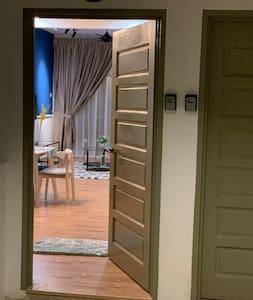 Wide door entrance for guests