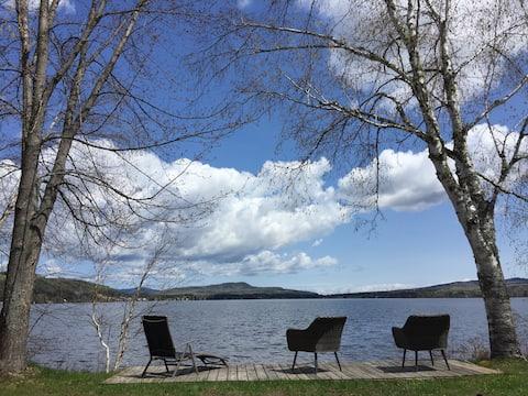 Le rustik chalet au bord du lac