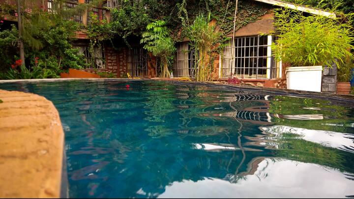 Quaint cottage with pleasant outdoors