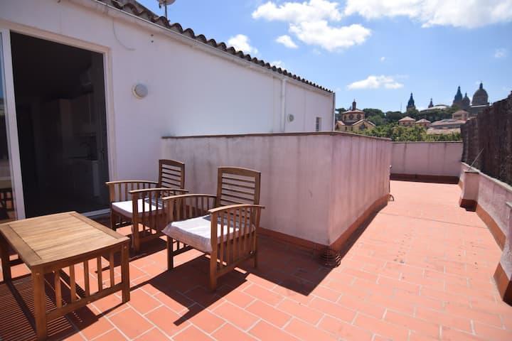 Beautiful apartment, dual terrace, airconditioning