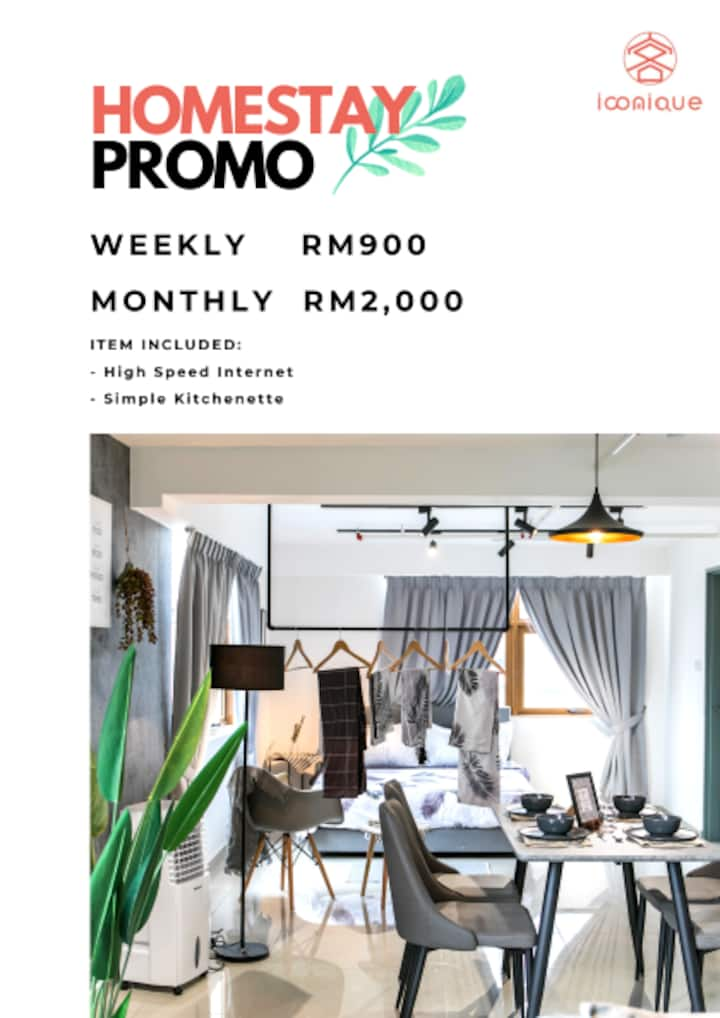 Kelana Jaya Smart Home Duplex Loft-6Pax,TVBOX+WIFI
