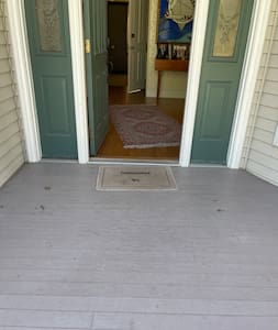 Entrance to front door that is 36 inches wide and floor has no slope