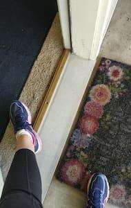 slight bump at threshold, but no step!