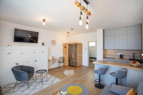 Romantický apartmán s výhledy na  jezero Lipno