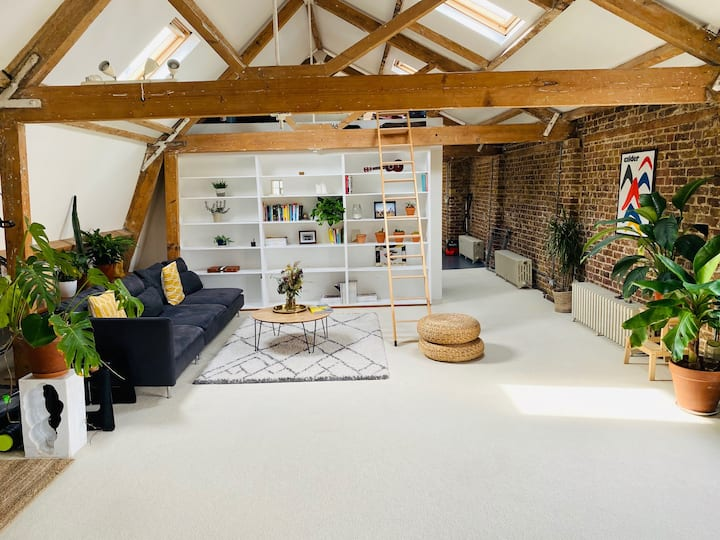 Entire spacious airy loft in East London