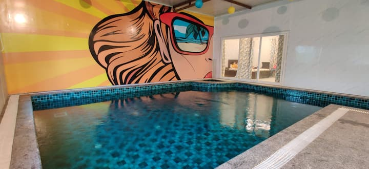 Staycation/Party with Indoor Private Pool in Noida