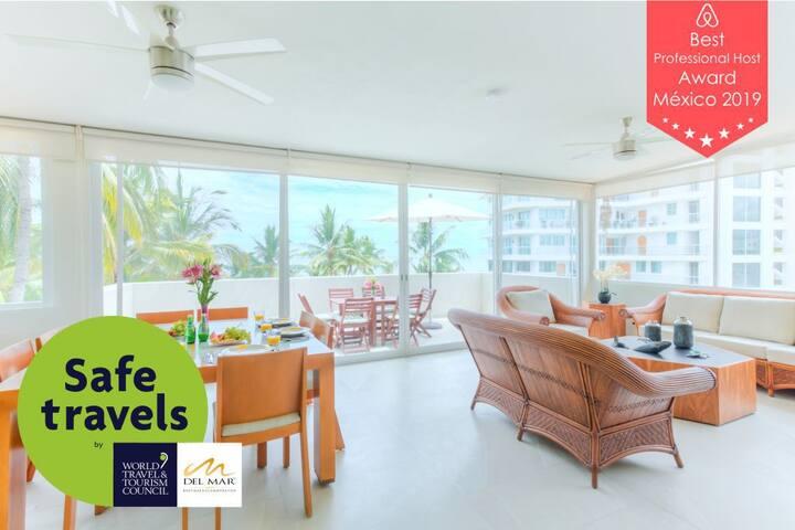 Suite 104. Ocean-side View Condo at Suites Marina