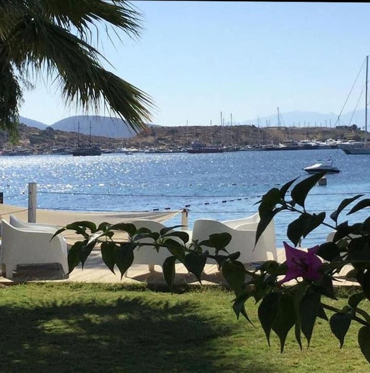 Eşsiz deniz manzarası aile işletmesi Gümbet Cove