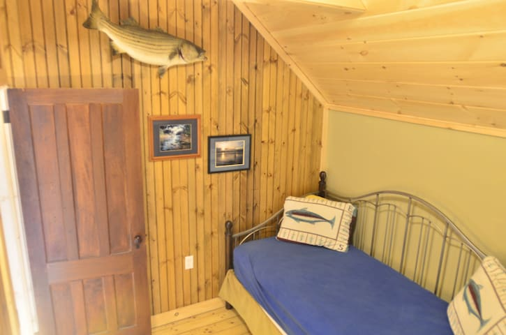Children's bedroom. Day bed with another full/twin bunk bed