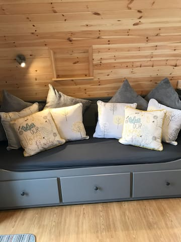 Luxury glamping pod sleeps up to 6 (max 4 adults)