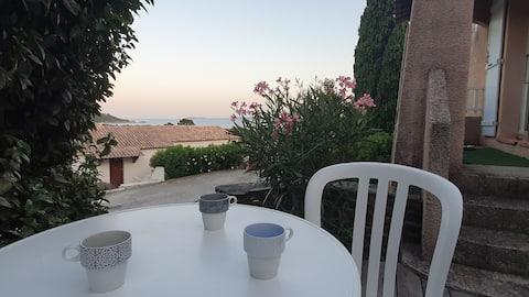Le Lavandou - Terrasse avec Vue Mer à Cavalière