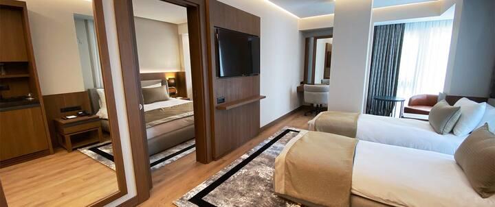 Istanbul Şişli'de dört kişilik 60m2 oda, 4 * otel