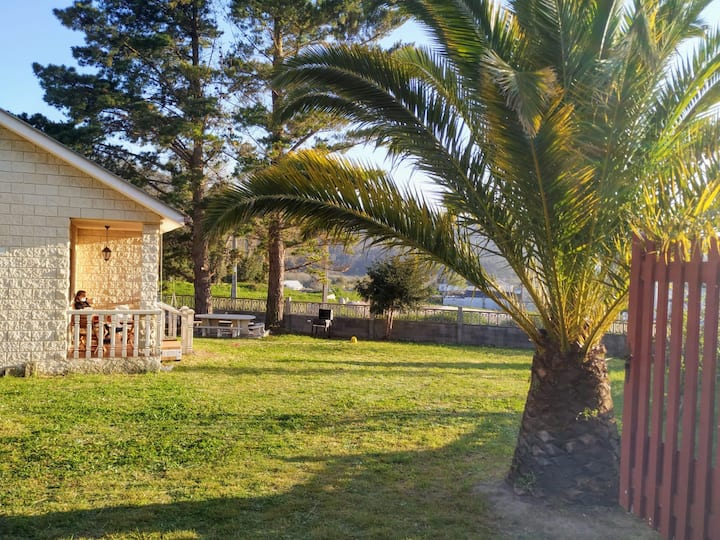 Casa en la playa de Area con finca privada