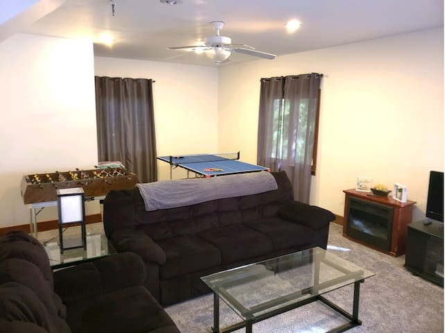 Back Living Room with Pullout Couch with Queen Mattress
