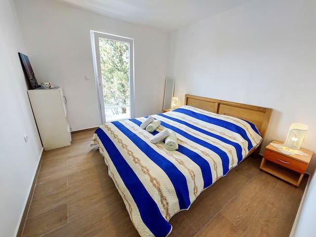 Double bed sleeping room