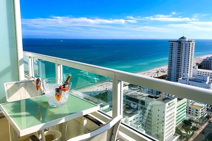 FontaineBleau Resort, High Floor w/ Ocean Views