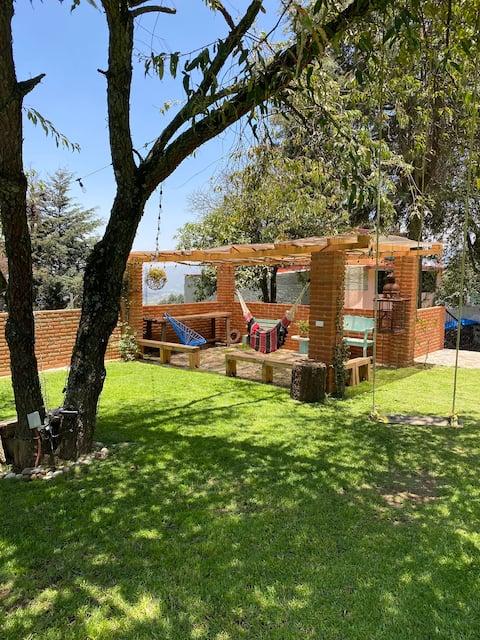 Ajusco的乡村房屋,带私人花园。