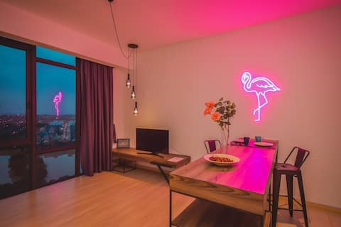 ❤ Insta-Neon❤Cube8teens Flamingo Suite by NestHome