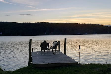 Private lakefront camping with extras available