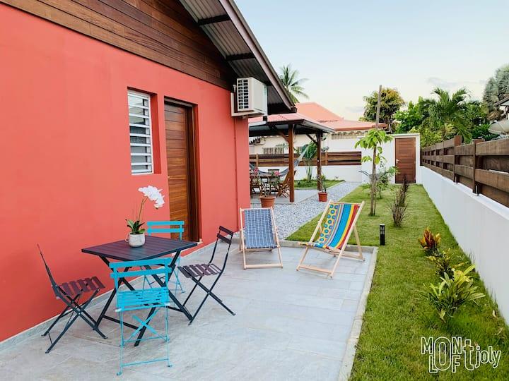 Montjoly LOFT ✦ Duplex meublé - quartier Montravel
