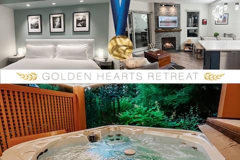 * GOLDEN HEARTS * ❄️ 2010 Olympic Retreat w/HOT TUB