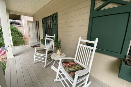 Two steps to reach the front porch