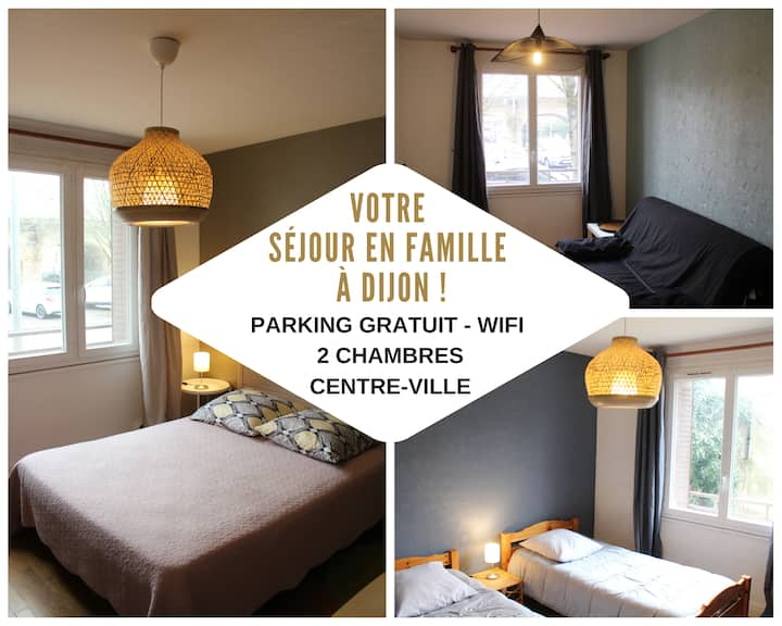 Appartement Family Centre Ville Dijon - Parking