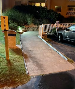 Ramp access to the elevator.