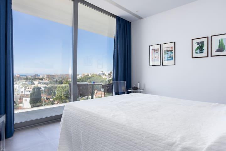 View from master bedroom on top floor