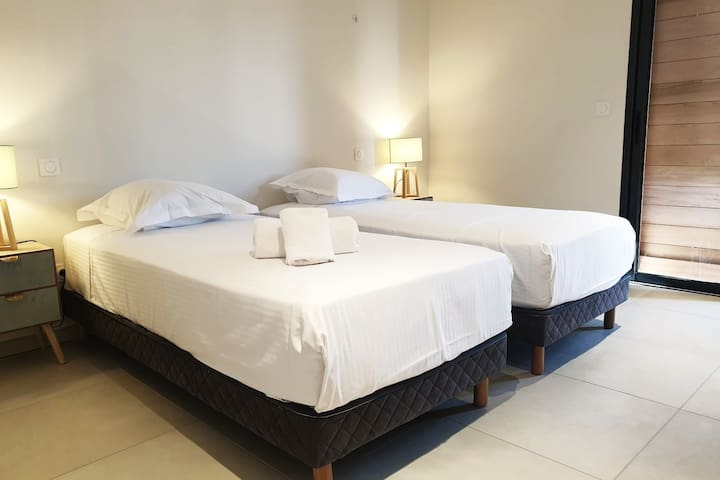 Chambre avec 2 lits en 90cm, climatisée