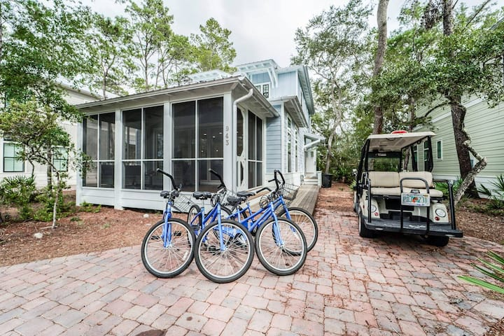 Magnolia Cottages - Blue Daze - Golf Cart & Bikes!