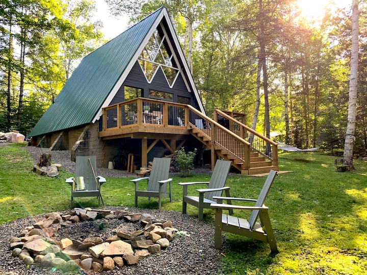 The Tree House • An A-Frame Chalet in Muskoka