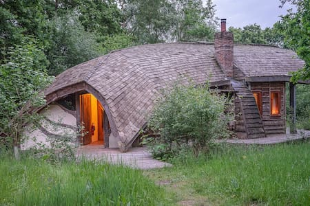 The Forest Ark: off grid eco lodge in 70 acre wood