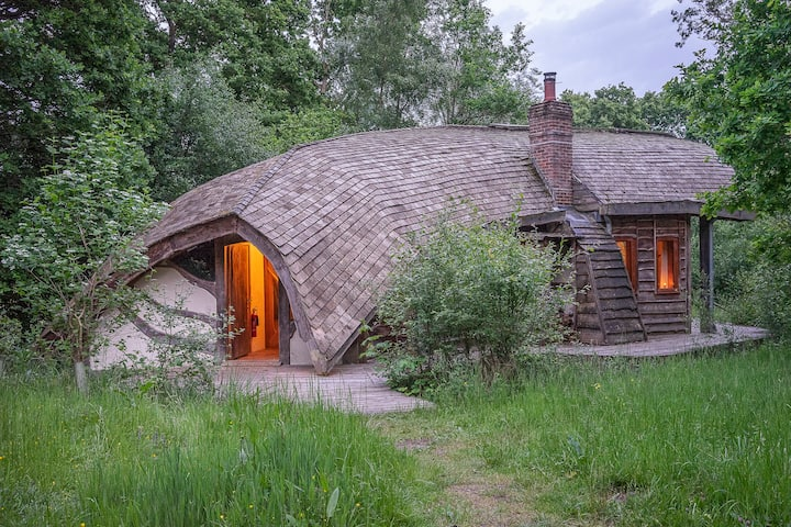 The Forest Ark: off-grid eco lodge in 70 acre wood