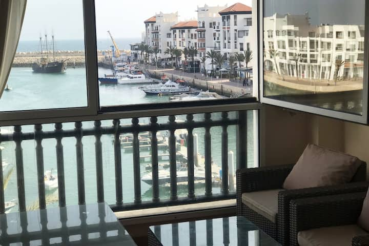 Appart 2 chambres Marina Agadir vue mer