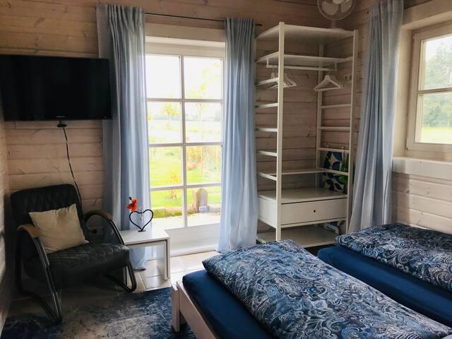 Schlafzimmer 1 mit der Doppelbettvariante