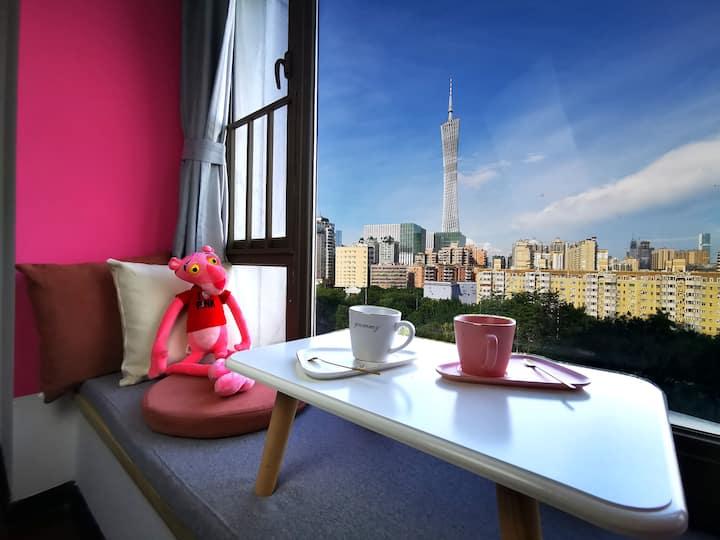 【塔畔】PINK WINK   望广州塔 琶洲广交会 珠江新城 小蛮腰 长隆 美领馆
