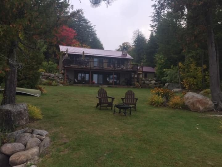 Heron Pointe Camp, a scenic alpine lake setting
