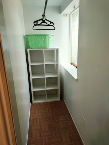Large closet and storage in second bedroom