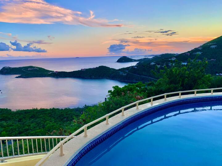 Stunning Pool Villa with 180 Degree Ocean Views