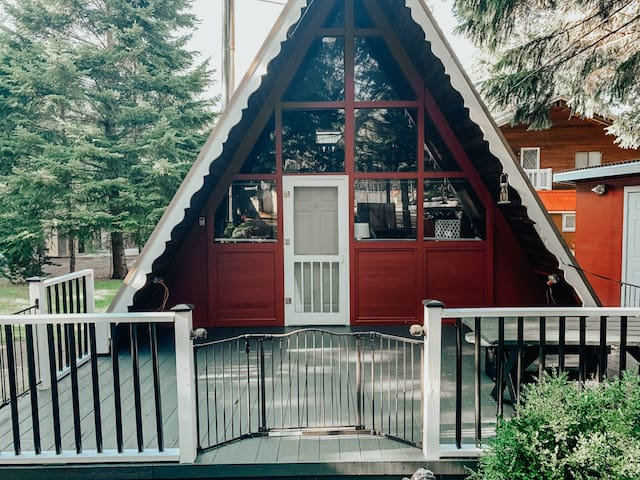 Cute & Cozy Packwood A-Frame with Private Hot Tub!